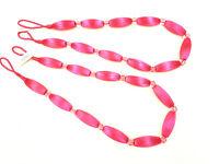 2 Fucshia Pink Curtain Bead Rope Tie Backs Pimlico HB660/FUS Pair Fabric Tieback