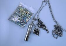 Kirks Folly 4 Ever Winged Amulet Locket Necklace - silver finish