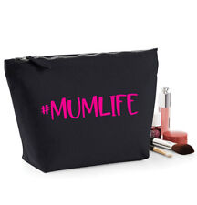 #MumLife Make Up Bag, Mum Life Cosmetic Case, New Mum Gift, Black or Beige