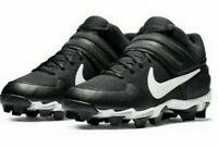Nike Alpha Huarache VRS MD Keystone (AO7582-001)Black / White Kid's Size 6Y