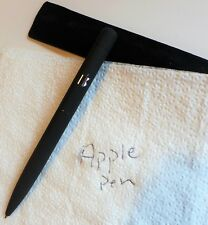 Apple Computer Pen Black With Silver Logo and Pouch