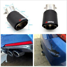 Durable Stainless Steel Angle Adjustable 63-89mm Carbon Fiber Look Car Tail Pipe