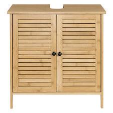 Badschrank Bambus Waschbecken Unterschrank Waschtisch Badmöbel Badezimmer 0017WY
