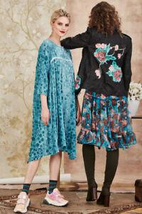TRELISE COOPER Curate Letter of Velvet dress / sz S