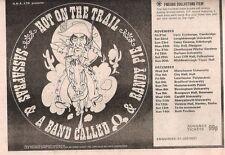 "SASSAFRAS 1975 Tour UK Press ADVERT 12x8"""