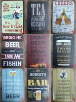 Metal Tin Signs Pub Bar Home Wall Home Decor Cafe Alcohol Beer Drink Cocktail