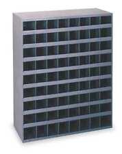 "Steel Hardware Storage Unit 72 Bins Heavy Duty 33-3/4 x 8-1/2 x 42"" Garage Tools"