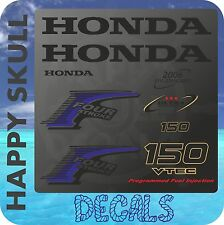 Honda 150 hp Four Stroke outboard engine decal sticker set reproduction