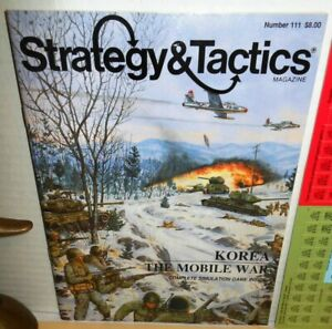 Strategy & Tactics Mag w/ Game #111 Korea The Mobile War op 1987 UNPunched