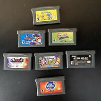7 Game GBA Lot-Star Wars:Flight of the Falcon-Nintendo GAMEBOY ADVANCE KIDS+more