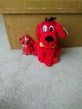 NEW Scholastic Clifford The Big Red Dog Plush BNWT 16cm and key chain coin pouch