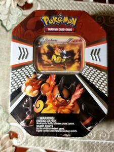 Pokemon Emboar Evolved Battle Action Fall Tin (2011) - Vintage Booster Packs
