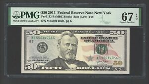 United State -Federal Reserve Note 50 Dollars 2013 Fr2132-B(MBC Block) Grade 67