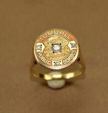 Antique Class Ring, Gold 14K & Diamonds , Rare!