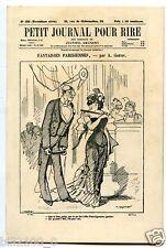 CARTON PUB. DU PETIT JOURNAL DU RIRE  1859-1889