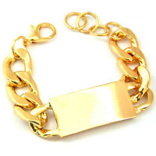 ID Bracelet Rose Gold Statement Chain Link Celebrity Fashion