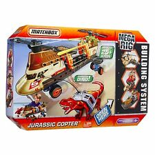 Matchbox Mega Rig Jurassic Copter Building Set New