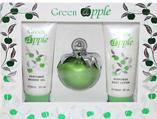 GREEN APPLE 3 PIECES SET FOR WOMEN NEW IN A BOX BY DESIRE INTL