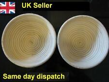 2 x Round Banneton 20.5cm Proofing / Proving Basket