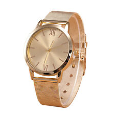 Women Armbanduhr Damen Gold Watch Edelstahl Armband Uhr Mesh Band Wrist Watch