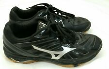 New listing Mizuno Women's Wave Hurricane 3 Volleyball Shoes, Black/Silver, 8.5