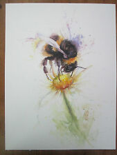 Bee  watercolour, print of original painting A3 size on watercolour paper