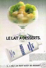 Publicité advertising 1985 Lait concentré sucré Nestlé