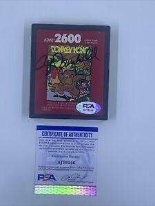 Nolan Bushnell Signed Atari 2600 Donkey Kong Video Game Cartridge PSA/DNA