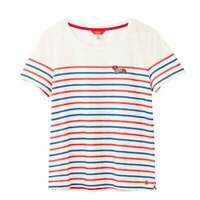 Joules Carley Embroidered Classic Crew Neck Top (Sausage Stripe)