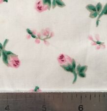 """60"""" Vintage Pink Rosebud Cotton Fabric By the Yard"""
