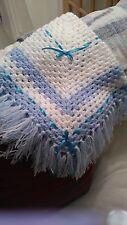 crochet hand made baby shawl
