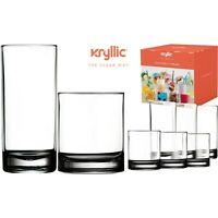 Acrylic Highball Drinking Glasses Tumbler Cups Set of 8, 14 And 16 OZ BPA Free