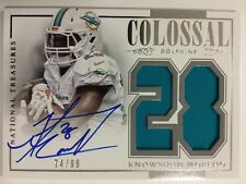 Knowshon Moreno 2014 National Treasures Collosal Signature Patch /99 Dolphins