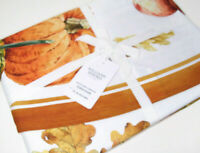 "Williams Sonoma Multi Colors Heirloom Pumpkin Cotton Table Cloth Round 70"" New"