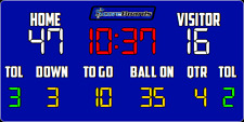 "ScoreBoards.com FB-8318-LED LED Football Hybrid Scoreboard (7' 6"" x 18')"