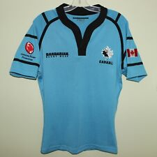 mint vintage CANADA Rugby Union player issue? Barbarian PRO-Fit away blue jersey