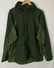 Champion CG Men's Army Green Heavy Windbreaker  Full Zip Hooded Jacket Sz XL