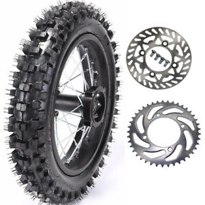 70/100-17 Front Wheel Rim Tire Disc Sprocket 110cc-150cc Pro Trail Dirt Bike