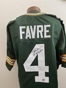 Brett Favre Signed Green Bay Packers Custom Home Jersey MVP Official Favre COA.
