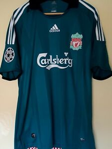 Maillot Liverpool Gerrard Taille L Adidas Third Retro rare Vintage