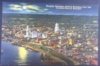 Vintage Postcard Mississippi River Memphis Tenn. Postmark 1942 C47
