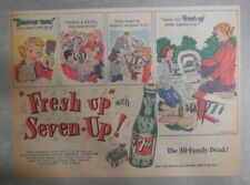 7-Up Ad: Fresh Up With Seven-Up! Painting Time ! from 1950's  7 x 10 inches