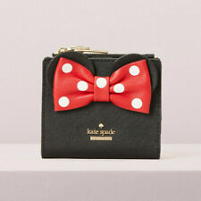 Kate Spade Disney for minnie mouse adalyn Compact Wallet Card Case Bow ~NWT~