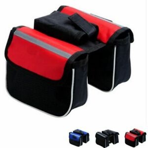 Rectangular 3-in-1 Bicycle Side Bag Modified Front Handlebar Pack Edging Package