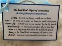 Funny Novelty thank you wedding day gift for Best Man gift Stag do party gift