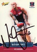 ✺Signed✺ 2013 MELBOURNE DEMONS AFL Card NATHAN JONES