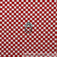 BonEful Fabric FQ Cotton Quilt GREEN Cream Brown Gingham Check Square Block Xmas
