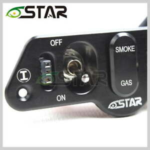 ALUMINUM DUAL POWER SWITCH WITH DUAL FUEL DOTS AND CHARGE PORTS for RC Planes