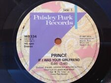 """Prince  - If I Was Your Girlfriend (W8334  1987) Vinyl 7"""" Single 45RPM"""