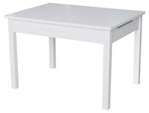 International Concepts Table With Lift Up Top For Storage, White